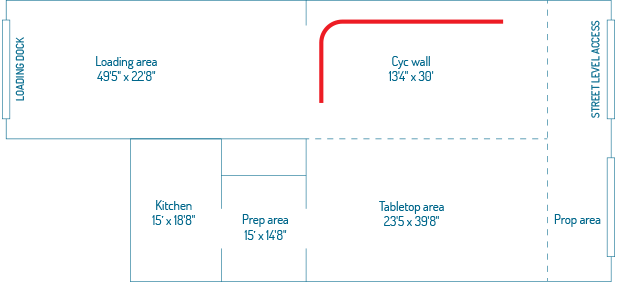 floorplan for studio NULU