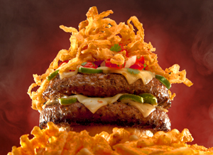 Tumbleweed En Fuego Burger Food Photography