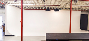 Large White 90-degree Cyclorama Wall